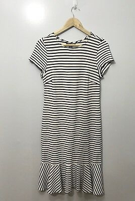 A Pea In The Pod Maternity Dress Black White Striped Size Large F5