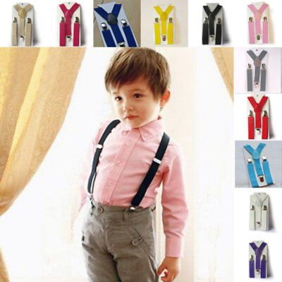 Adjustable Baby Girl Boy Kid Clip-on Suspenders Elastic Y-Shape Braces Toddler