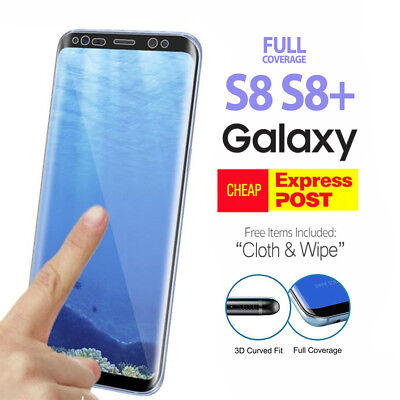 For Samsung Galaxy S8 / S8 Plus Full Coverage 3D Tempered Glass Screen Protector
