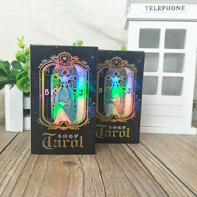 78 Cards Waite Rider Tarot Deck Game Future Telling Sealed Set With Case MB