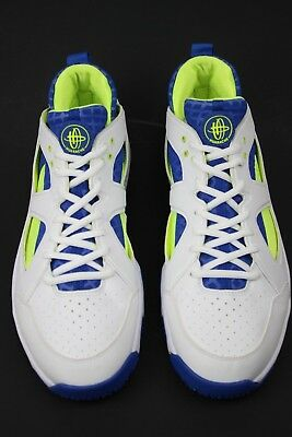 bda61d2f15988 Men s Nike Zoom Huarache Trainer Low White royal volt Shoes 442243-147 Size