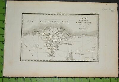 Antique 1799 Map of Upper Egypt 11x16 Inches