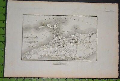 Antique 1799 Map of Alexandria Egypt 11x16 Inches