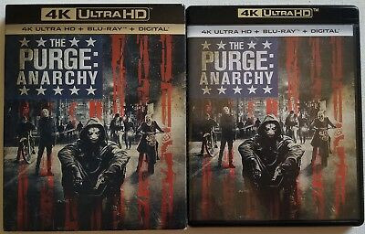 The Purge: Anarchy 4K Ultra Hd Blu Ray 2 Disc Set + Slipcover Sleeve Free Shippi