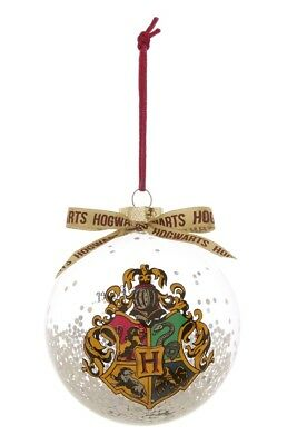 Primark HARRY POTTER HOGWARTS Christmas Bauble LARGE New in Box FREE PP