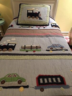 Pottery Barn Kids Ryder Quilt Boys Twin Bedroom Set