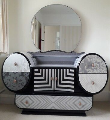 ART DECO 1930s DRESSING TABLE.FABULOUS & UNIQUE. RELOVED IN AN ORIGINAL STYLE