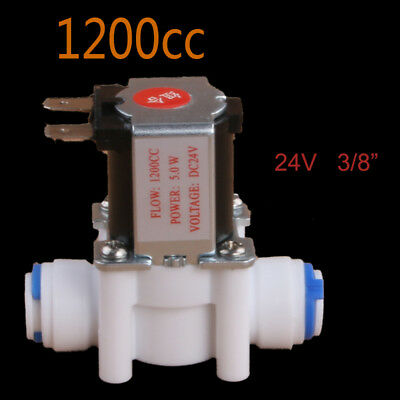 "3/8"" Normally Closed Electric 24V Solenoid Valve with Waste Water Flow 1200CC"