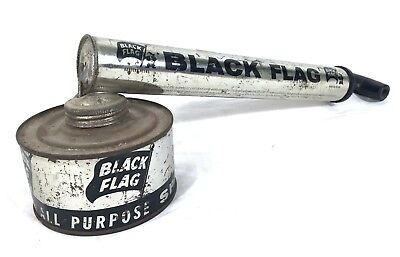 Black Flag Pump bug Sprayer VERY RARE black / silver model vintage #A37