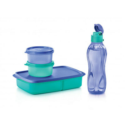 Tupperware Refuel Power Pack Round Container Jolly Tup Eco Bottle Flip Top New