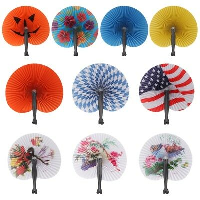 1PCS Foldable Hand Held Paper Fan For Children Themed Party Decoration Fan