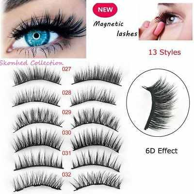 2 Pairs Triple Magnetic False Eyelashes Extension Full Coverage Eye Lashes Long