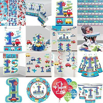 All Aboard 1st Birthday Party Decorations Table Wear Children Plates Cups Cutout
