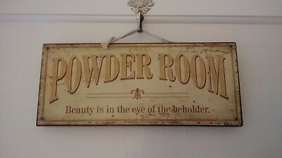 Antique Vintage Shabby Chic Decorative Powder Room sign