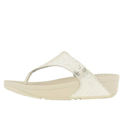 28a9141b44077c FITFLOP LULU PYTHON Toe Thong White Women s Leather Sandals M80-194 ...