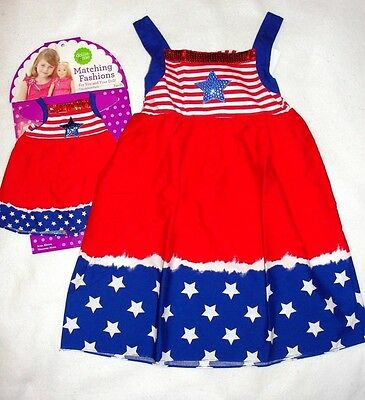 Girl's Dollie & Me Matching Patriotic Sundresses - Size 4 - NWT