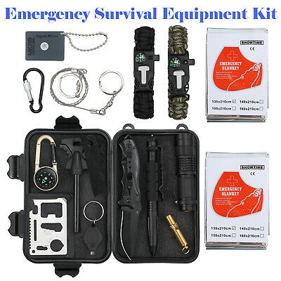 Emergency Survival Equipment Kit Outdoor Sports Tactical Hiking Camping Tool AU