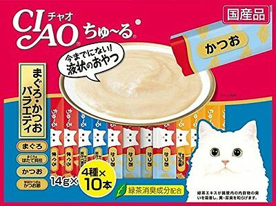 INABA CIAO Churu Cat Lick Snacks Fillet 4 type Flavor x10pcs 40pcs Cat-Food