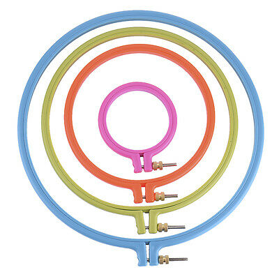 """Plastic Embroidery Cross Stitch Ring Hoop Frame from 3"""" to 10"""" UK"""