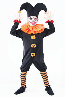 Boys Kids Childs Evil Joker Halloween Fancy Dress Costume Clown Outfit 5-16 Yrs