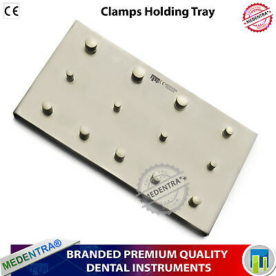 Endodontic Rubber Dam Metal Plate 13 Clamps Holding Upper Lower Premolar Molars