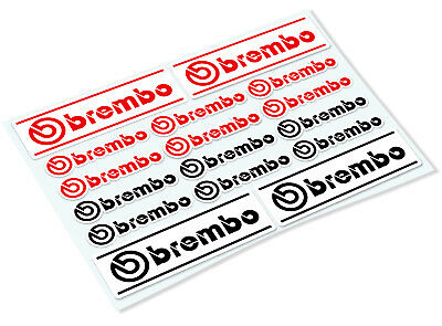 BREMBO STICKER SHEET Classic Retro Car Motorcycle Decals Stickers