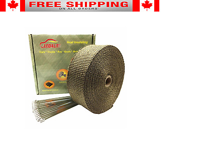 "LEDAUT 2"" x 50' Titanium Exhaust Heat Wrap Roll for Motorcycle HMHRT25017 NEW"