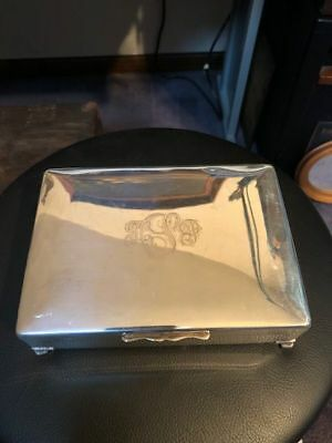 Silver Plated Cigarette Box from Reed & Barton Silver, Marked 557F - # 9