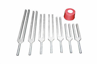 Endocrine & Spine 7 Healing Tuning Forks w Activator + Pouch