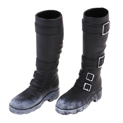 1/6 Men's Fashion High Boots for 12'' Action Figure Phicen Kumik Hot Doll