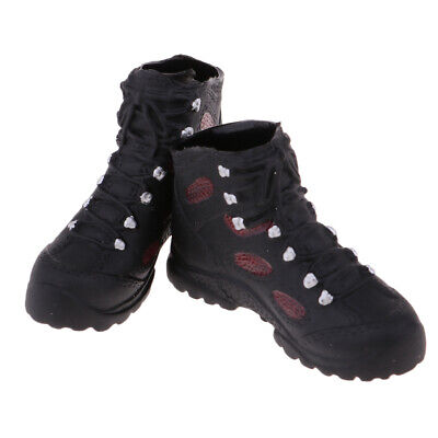1/6 Scale Male Hiking Shoes Black Ankle Boots for 12'' Man Phicen Kumik Doll