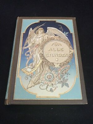 Antique German Book Late 1800 - Early 1900 Fur Alle Stunden Antiquarian Book Y4