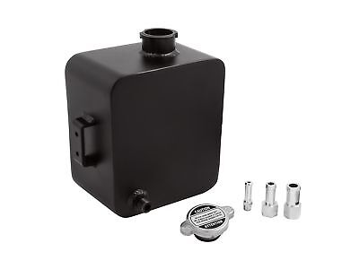 Universal Aluminium 2L Radiator Coolant Recovery Overflow Expansion Tank Black