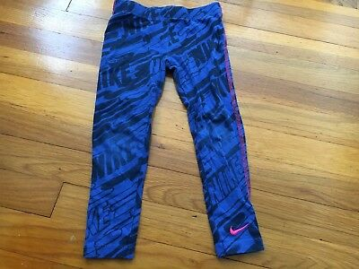 Nike Blue Stretch Athletic Pants Leggings - Toddler Size 5