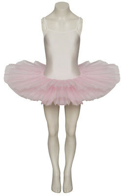 Girls White and Pink Dance Ballet Tutu Leotard By Katz Age 9-10 and 11-13 Years