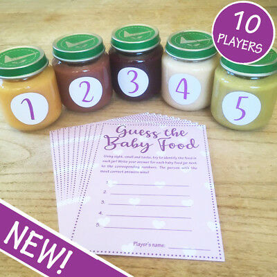 Guess The Baby Food! Game - Pink / Girl - 10 Player - Baby Shower Party