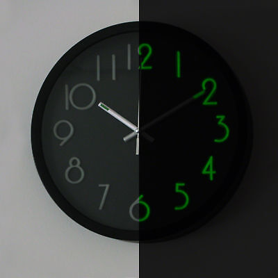 Glow in the Dark Clock - wall clock, decoration, visibility aid