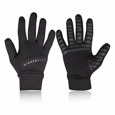 Higher State Unisex Running Gloves Black Sports Breathable Reflective