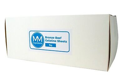 1Kg  Bronze Leaf gelatine sheets Beef.Gelatine leaves or Sheet gelatine