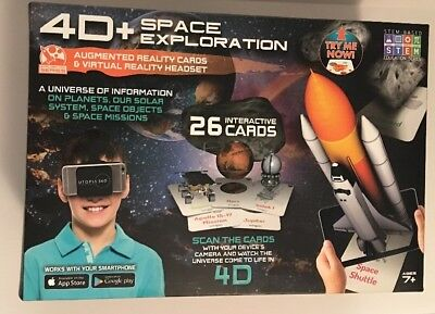 4D + Utopia 360° Space Exploration Augmented Reality Cards And Virtual Headset