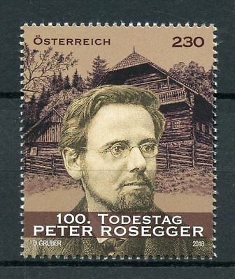 Austria 2018 MNH Peter Rosegger 100th Memorial 1v Set Writers Literature Stamps