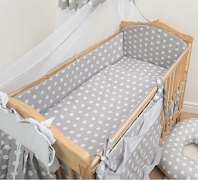 5 Piece Baby Cot Bedding Set With 4 sided Bumper to fit 140x70 cm - Pattern 14