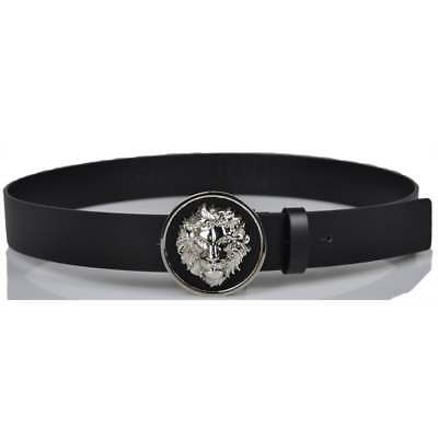 Versace Versus Belt Leather ITALY Man Black FCU0076 FCUO F460N Sz 100 MAKE OFFER