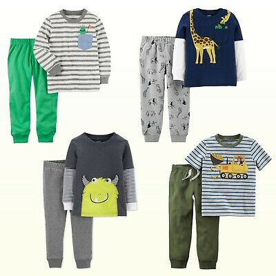 New Carter's Baby/ Toddler Boys Long or Short Sleeve Top & Pant 2 Piece Set