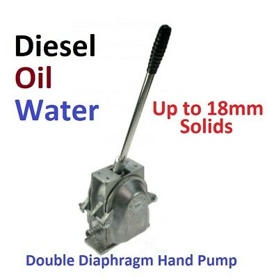 Double Diaphragm Hand Pump,  For Diesel, Oils And Water, Pump Only
