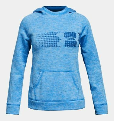 86c337cb2af7 Under Armour Youth Fleece Highlight Hoodie Mako Blue Girls size YSM Small