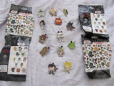 Disney Trading Pins Cute Star Wars Stylized Mystery Pack complete set of 13 pins