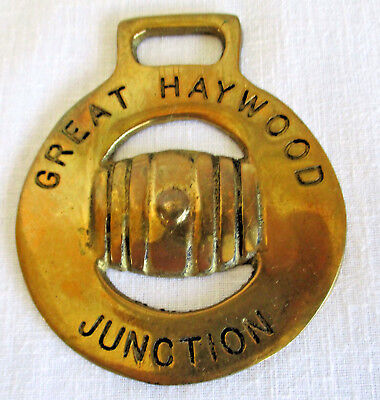Vintage Horse Brass Medallion Raised Great Haywood Junction