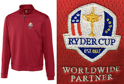 Cutter & Buck Edge 1/4 Zip Pullover - Crested with the Ryder Cup Logo - RRP£60