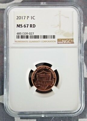 2017 P 1C Lincoln Shield Cent MS 67 RD NGC ONLY YEAR WITH P MINTMARK!!
